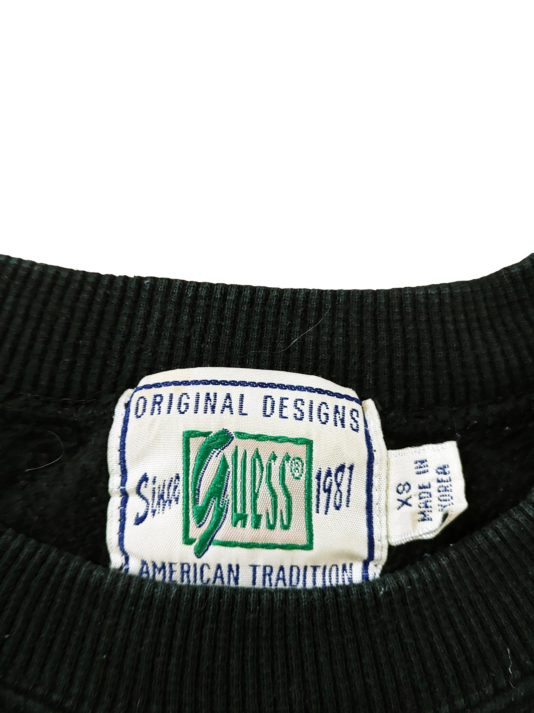 Vintage Guess All Black Sweater Sz XS