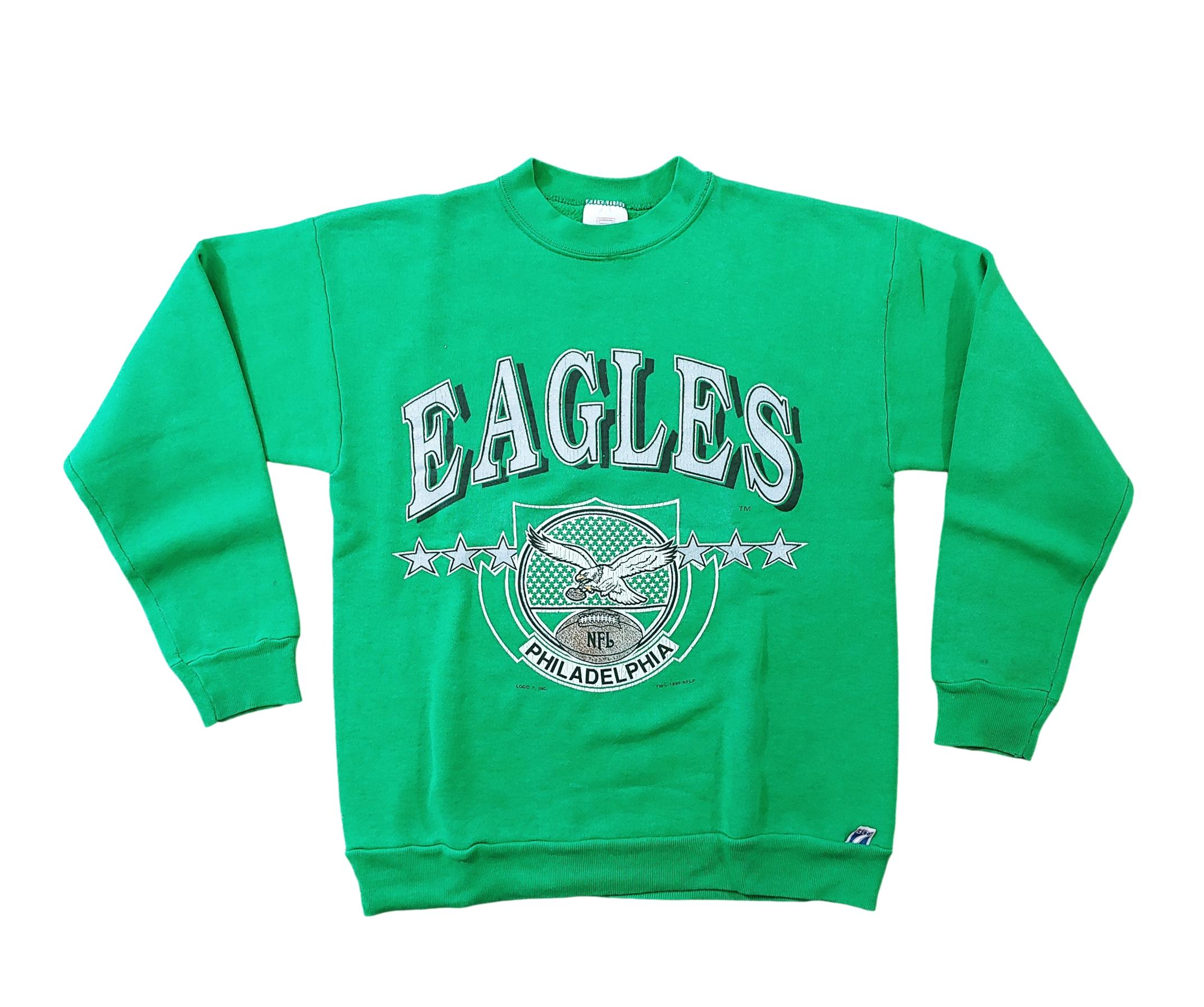 Philadelphia Eagles Vintage 1990 Football Sweater Sz M Logo 7