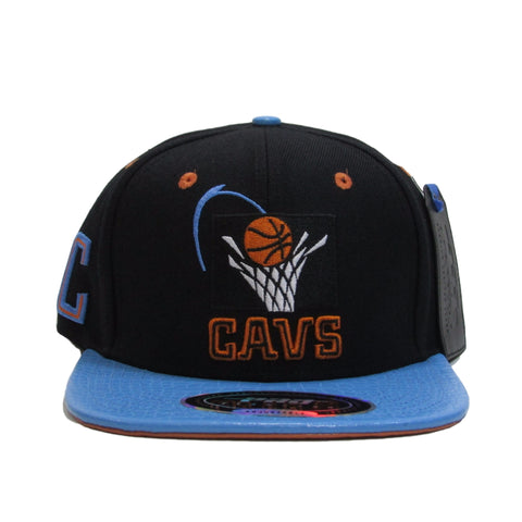 Cleveland Cavaliers Leather Snapback Hat by PRO STANDARD 1994 Logo