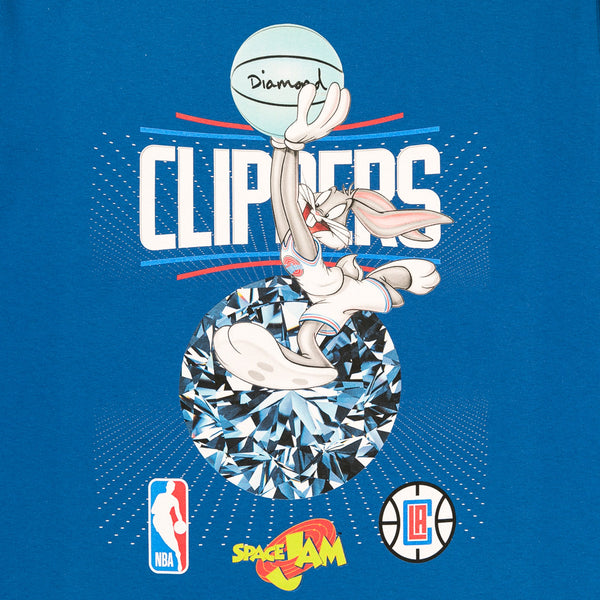 Diamond X Space Jam Los Angeles Clippers T-Shirt - Blue