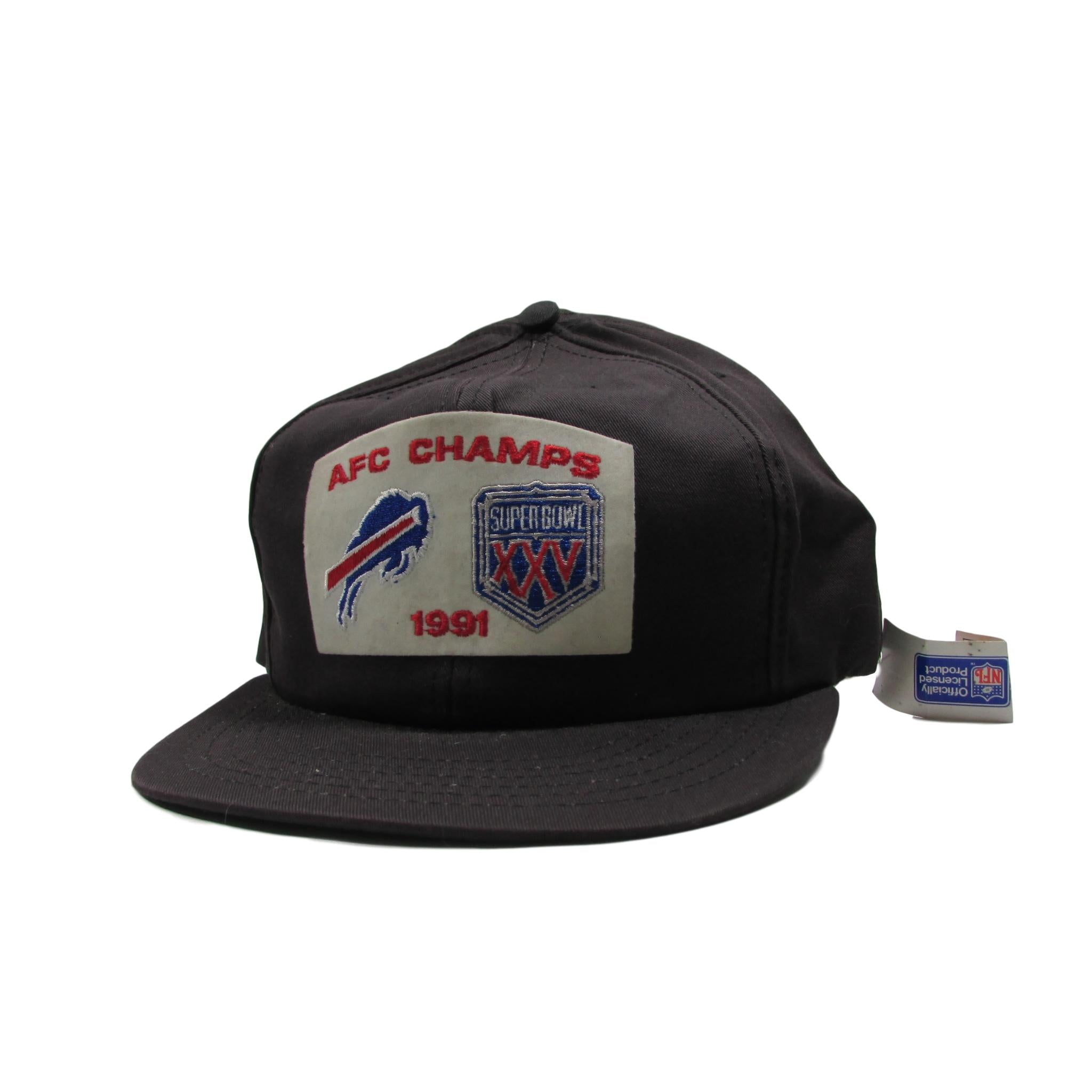 Buffalo Bills 1991 AFC Champions Superbowl XXV Deadstock Snapback Hat American Needle