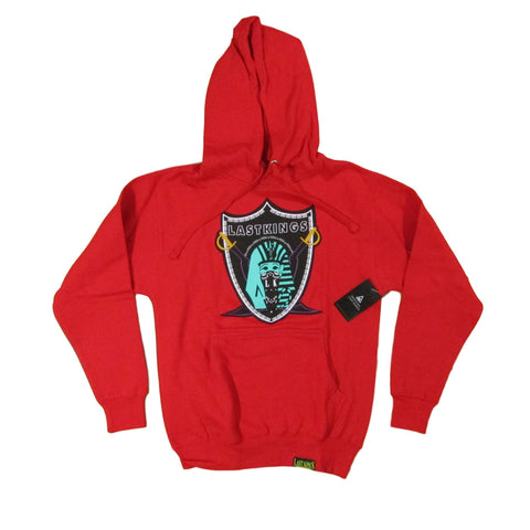 Last Kings Red Hoodies Sweater with Teal Pharaoh Emblem