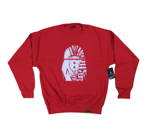 Last Kings Red Tape Pharaoh Logo Crewneck Sweater