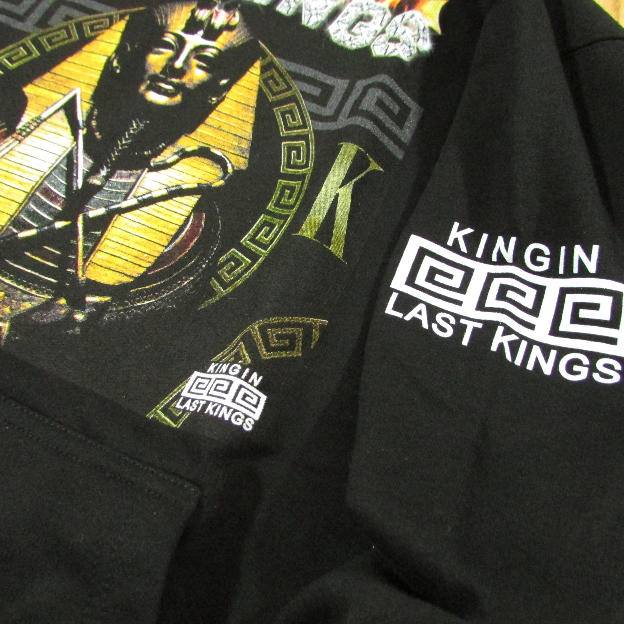 Last Kings Pharaoh Sweater Diamond Ice Flames Hoodie Black