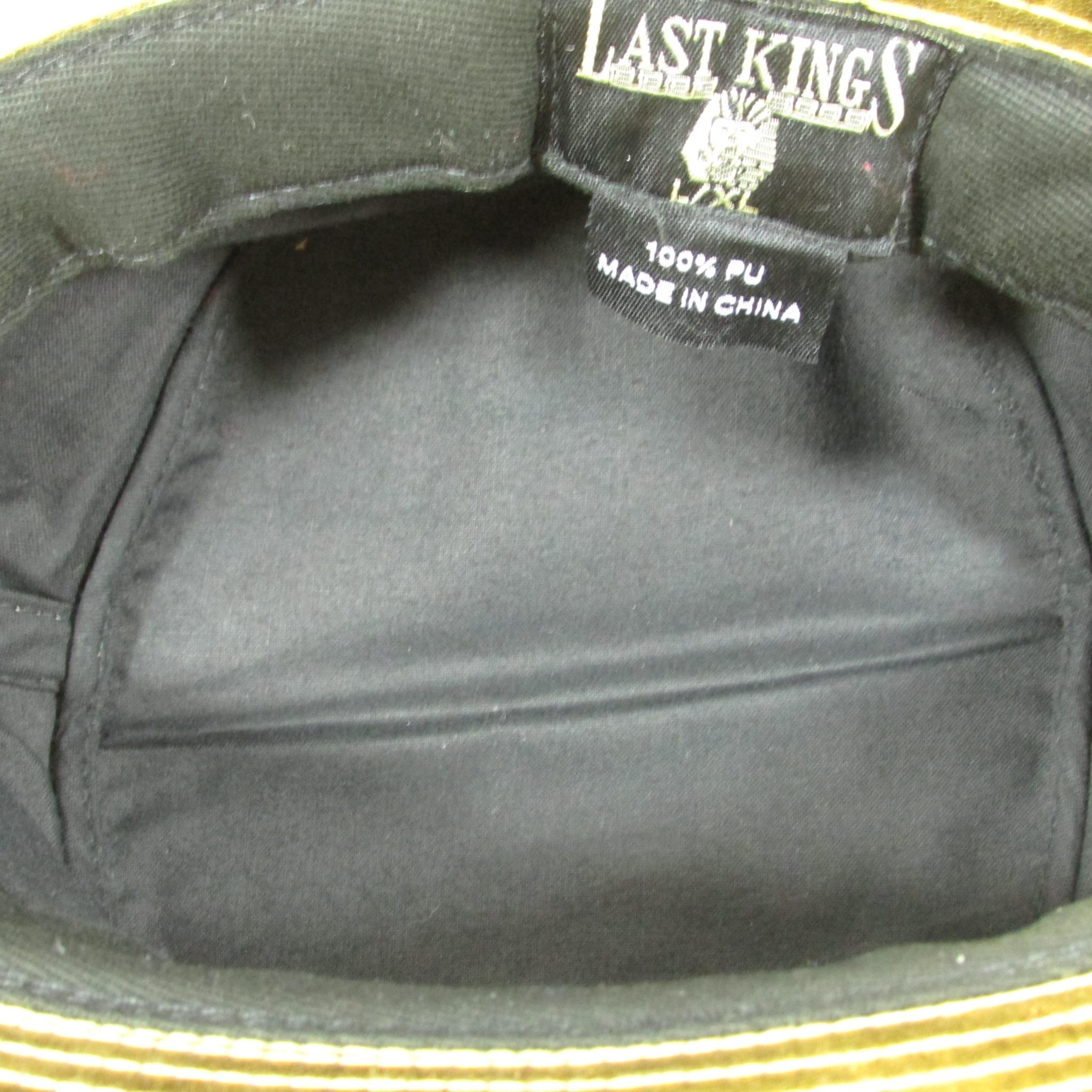 Last Kings Gold Leather Summer Bucket Hat