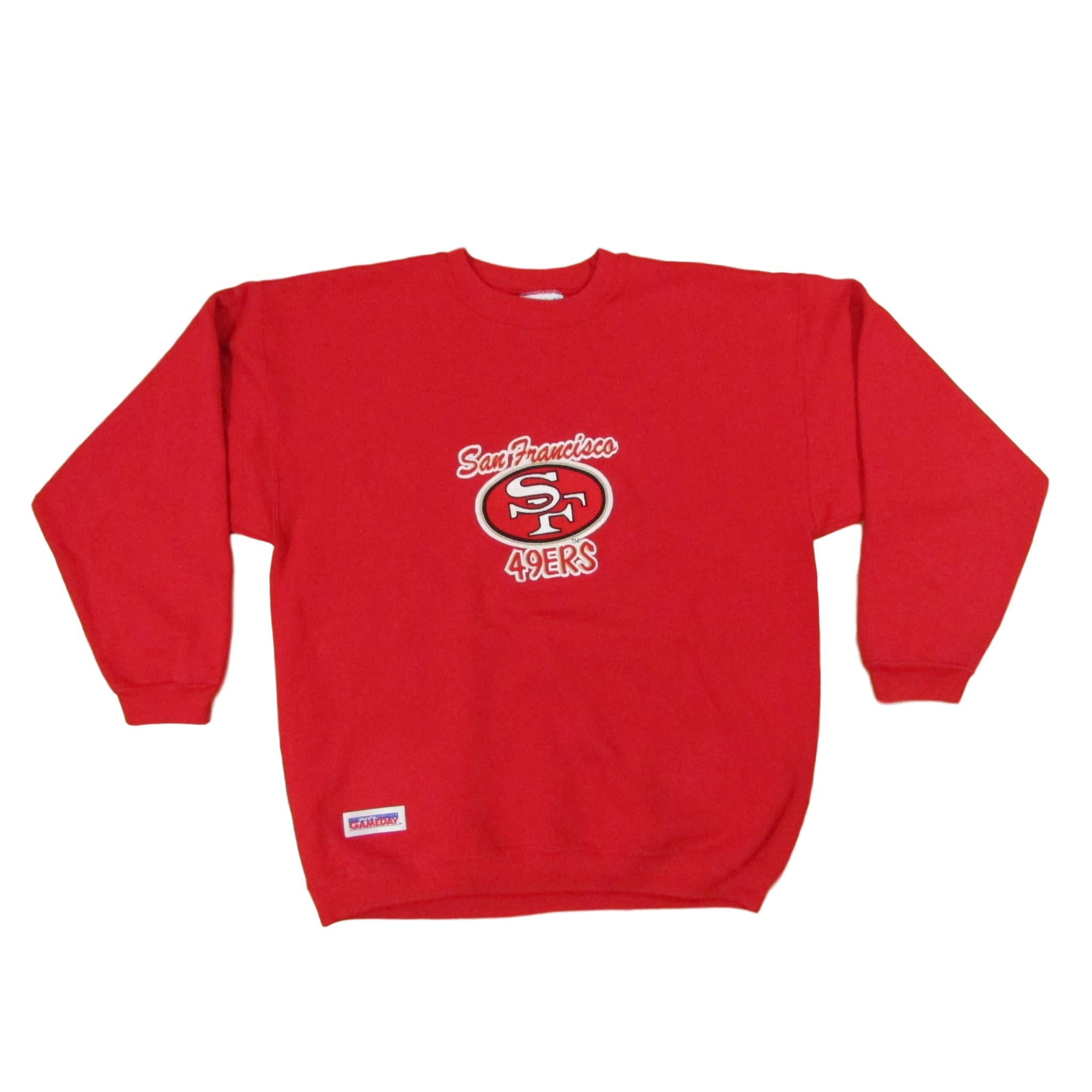 San Francisco 49ers NFL Gameday Football Crewneck Sweater Sz L