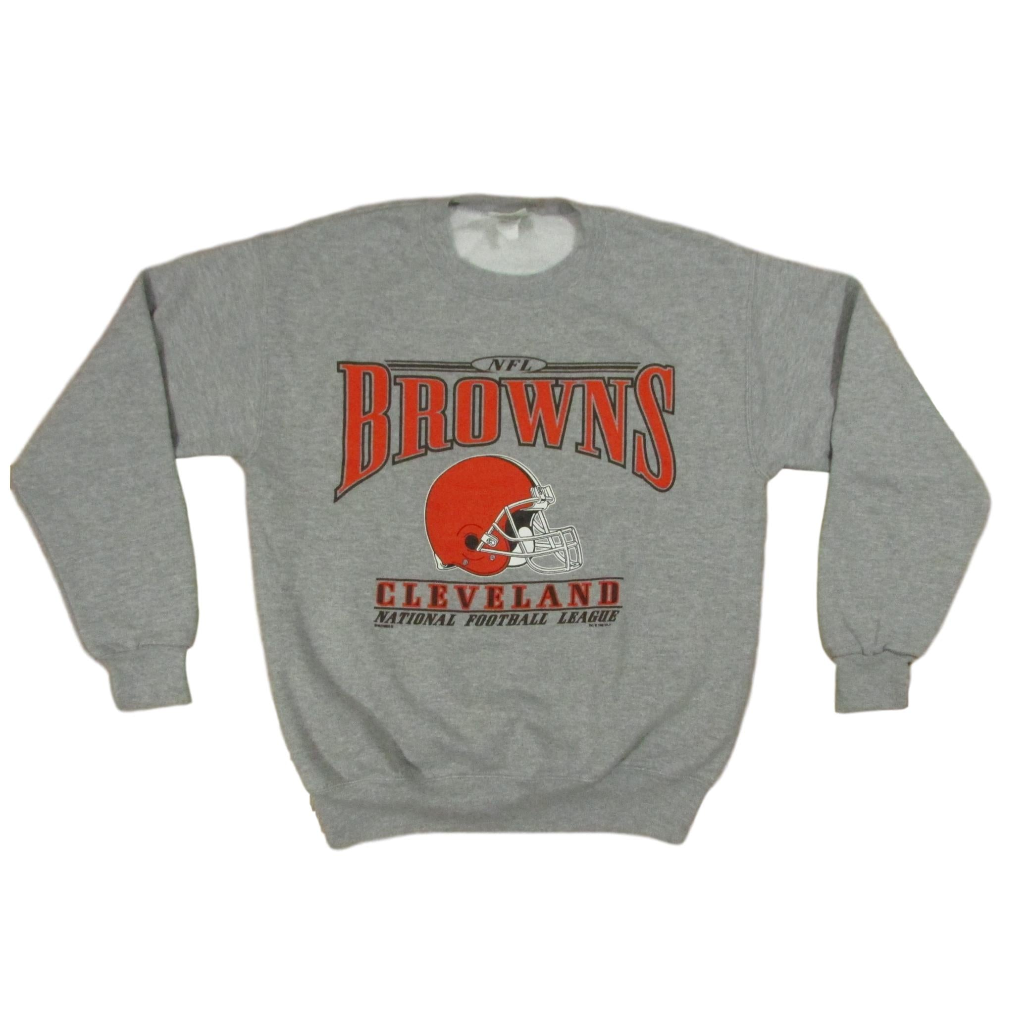 Cleveland Browns Gray Vintage Football Sweater Lee Sports Sz M