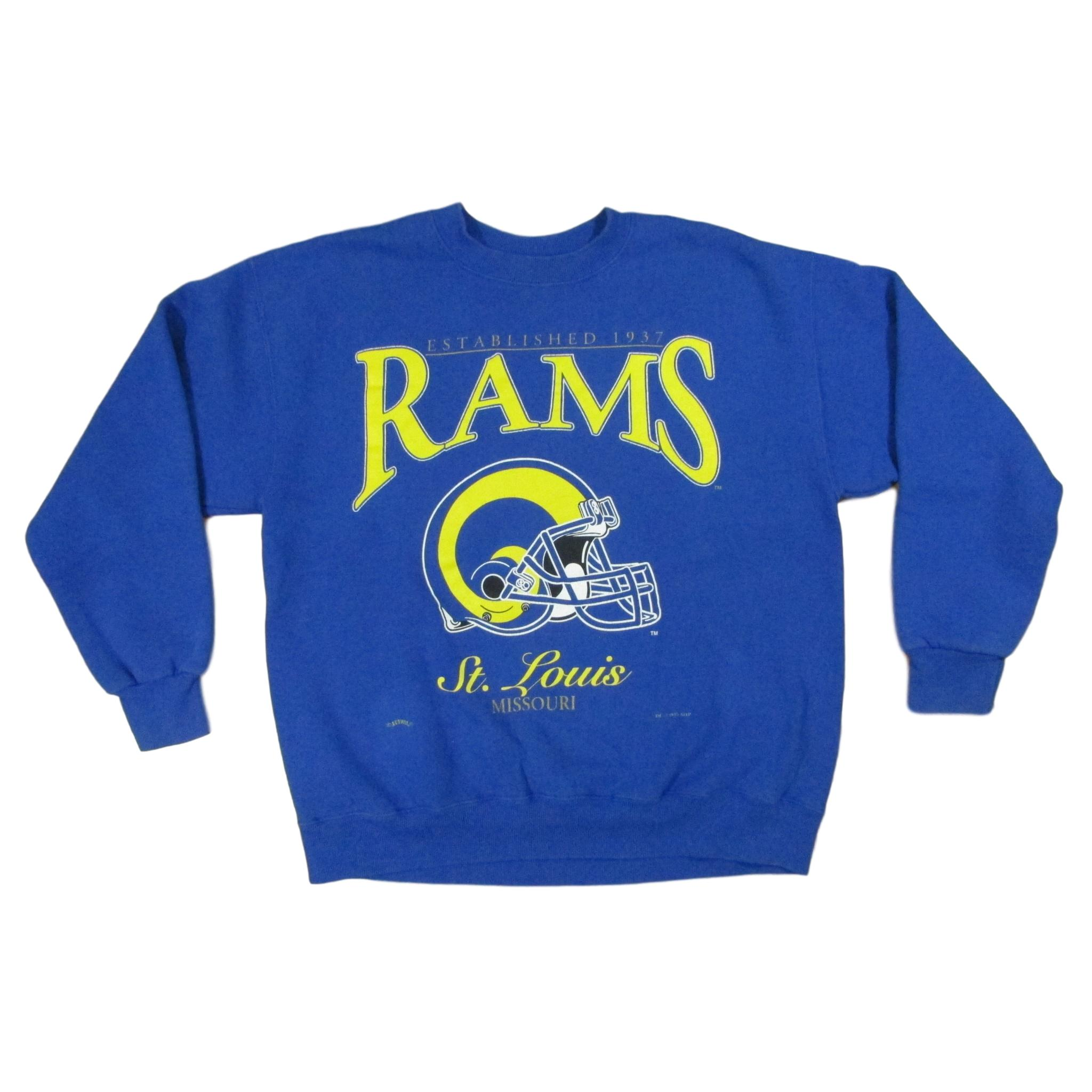 St. Louis Rams 1995 Logo Football Vintage Sweater Lee Sport Sz L