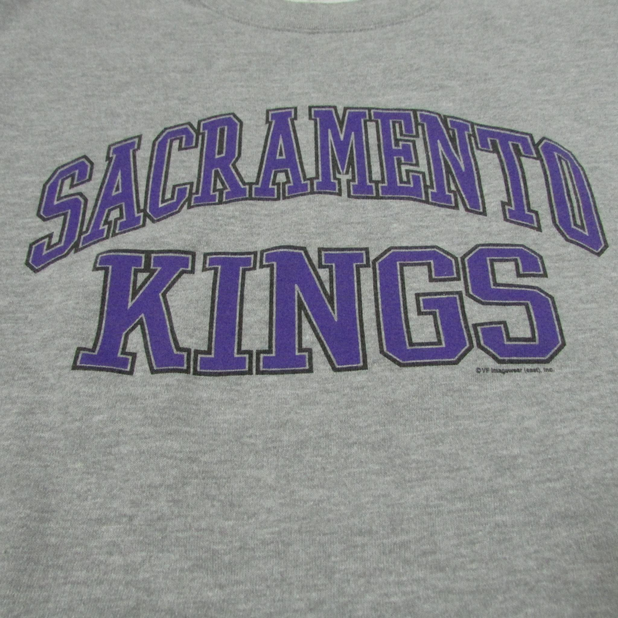 Sacramento Kings Practice Basketball Sweater Lee Sports Sz L