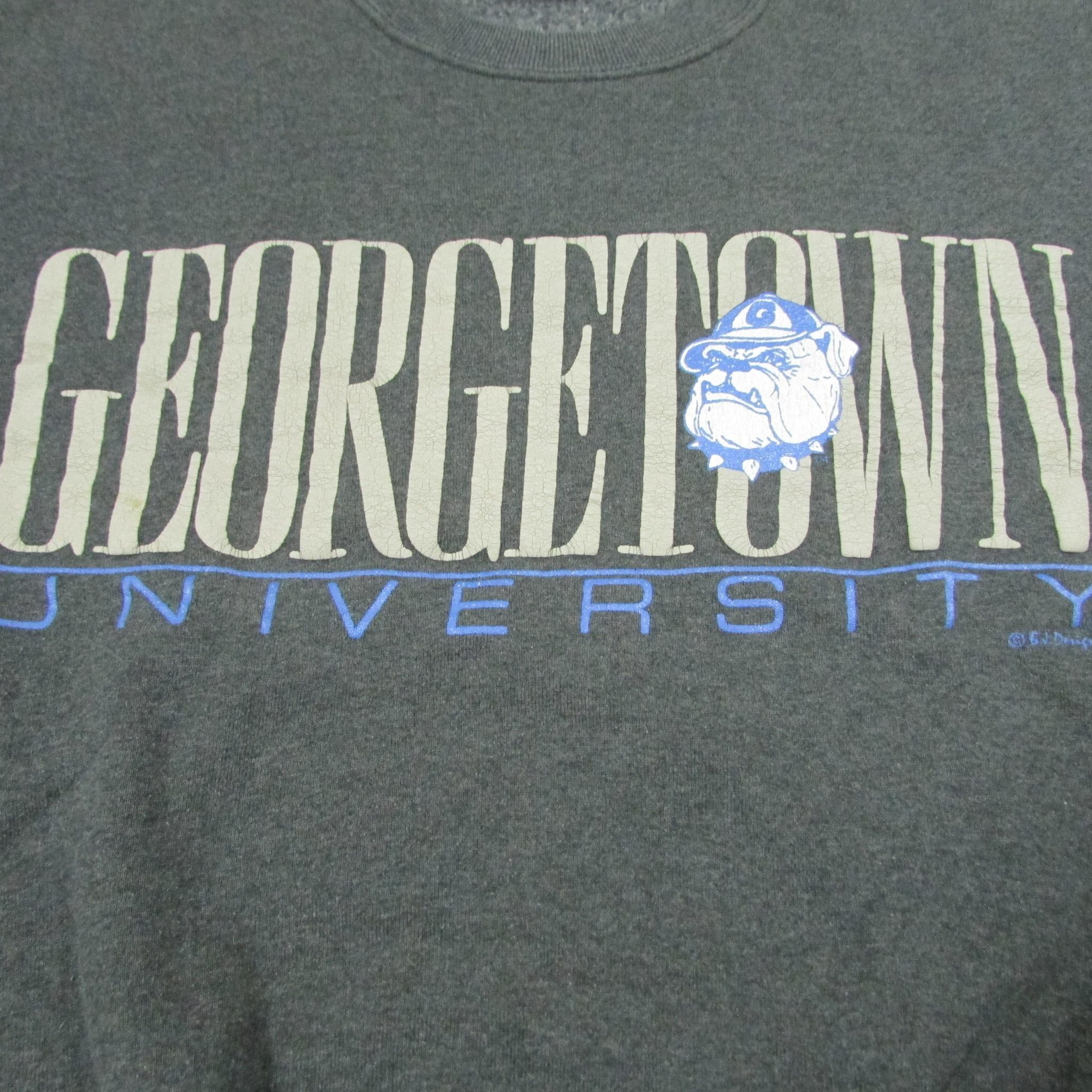 Georgetown University Hoyas Vintage College Sweater Sz L