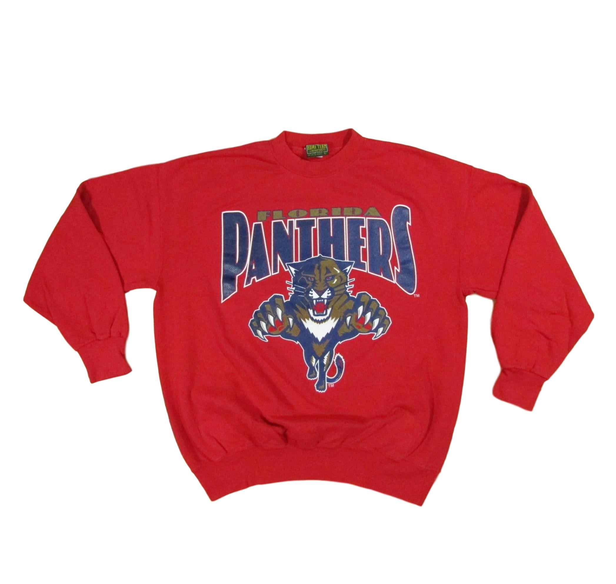 Florida Panthers NHL Hockey Sweater Crewneck Home Team Sz L