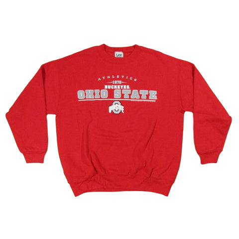 Ohio State University Buckeyes College Football Crewneck Sweater Lee Sports Sz L