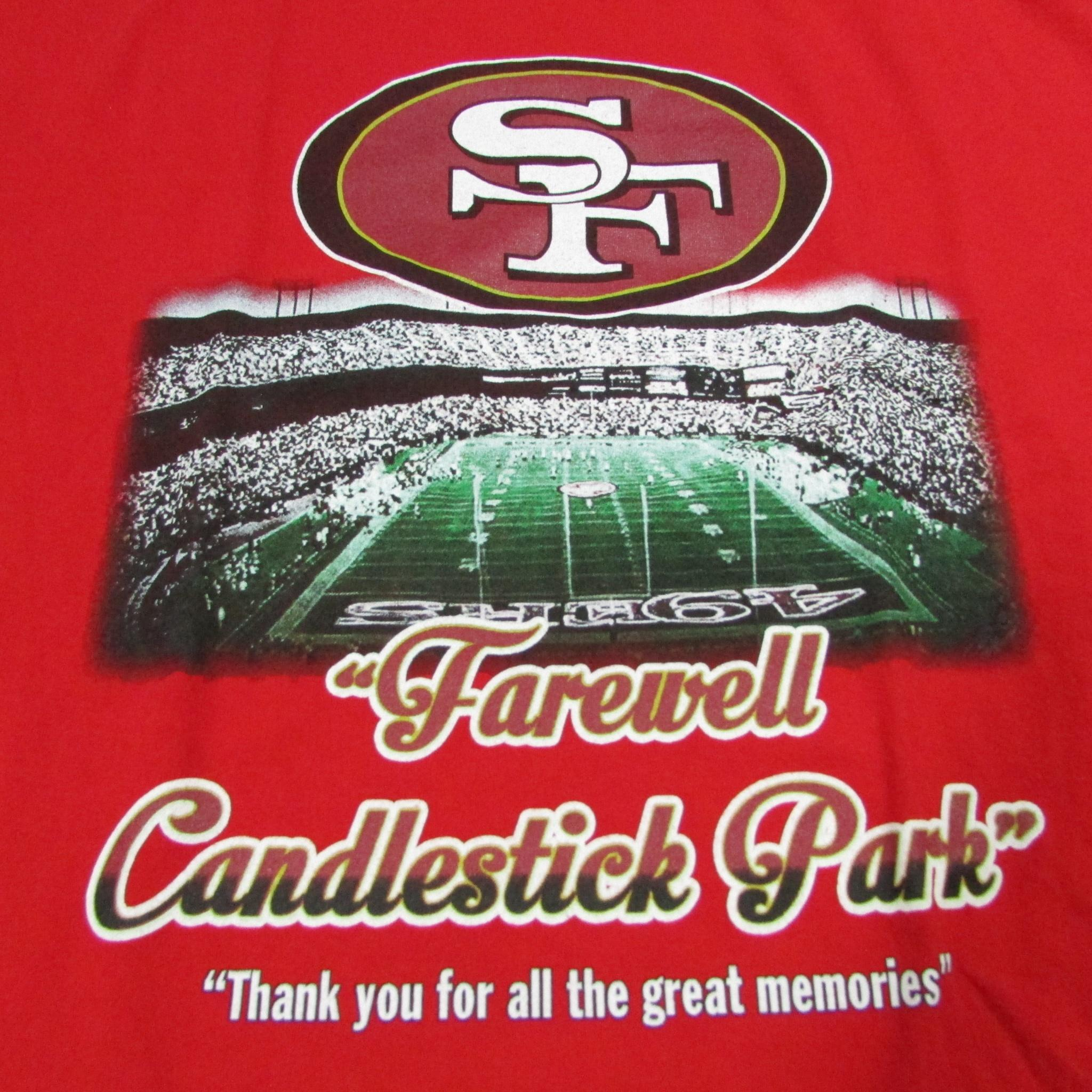San Francisco 49ers Candlestick Park Farewell Football T-Shirt