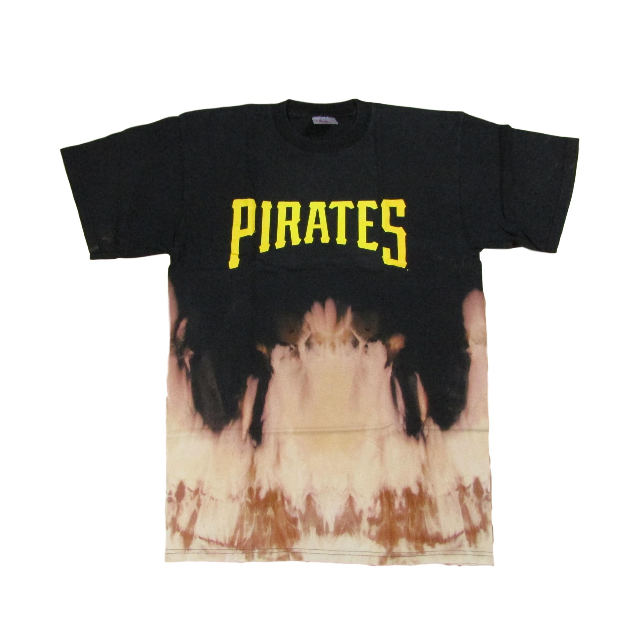 Pittsburgh Pirates Tie Dye Bleach Baseball Vintage T-Shirt Sz L