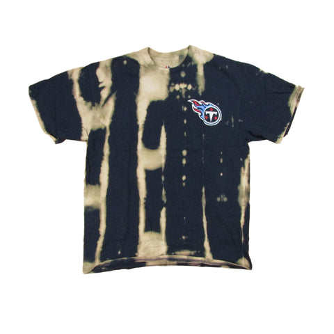 Tennessee Titans 2016 NFL Season Tie Dye Bleach Football T-Shirt Sz L