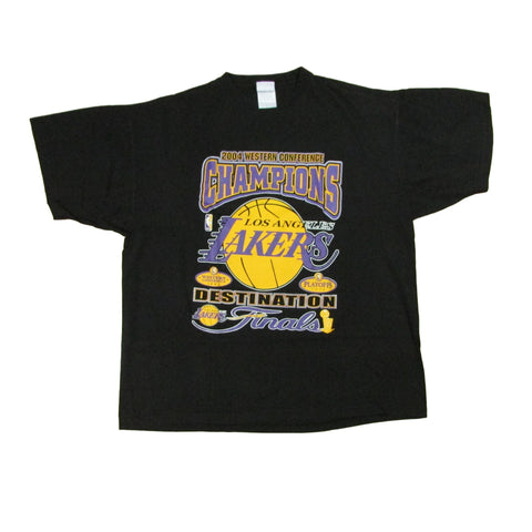 Los Angeles Lakers 04 Western Conference Champs Basketball T-Shirt Sz XXL