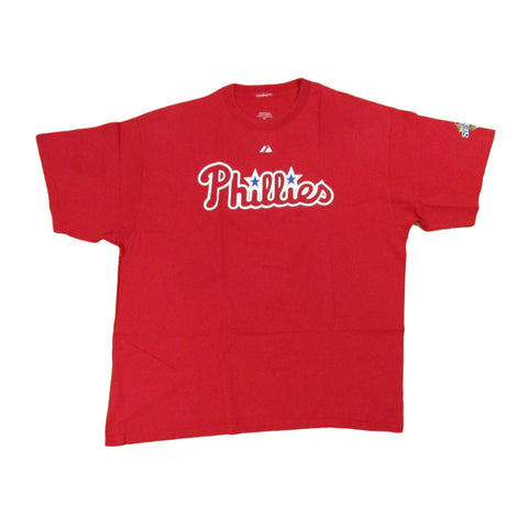 Philadelphia Phillies Chase Utley World Series Baseball T-Shirt Sz XXL