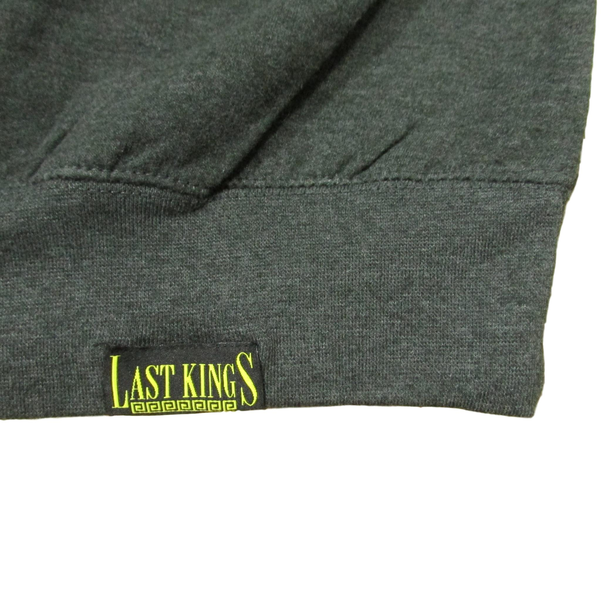 Last Kings Pharaoh Red Tape Crewneck Sweater Gray