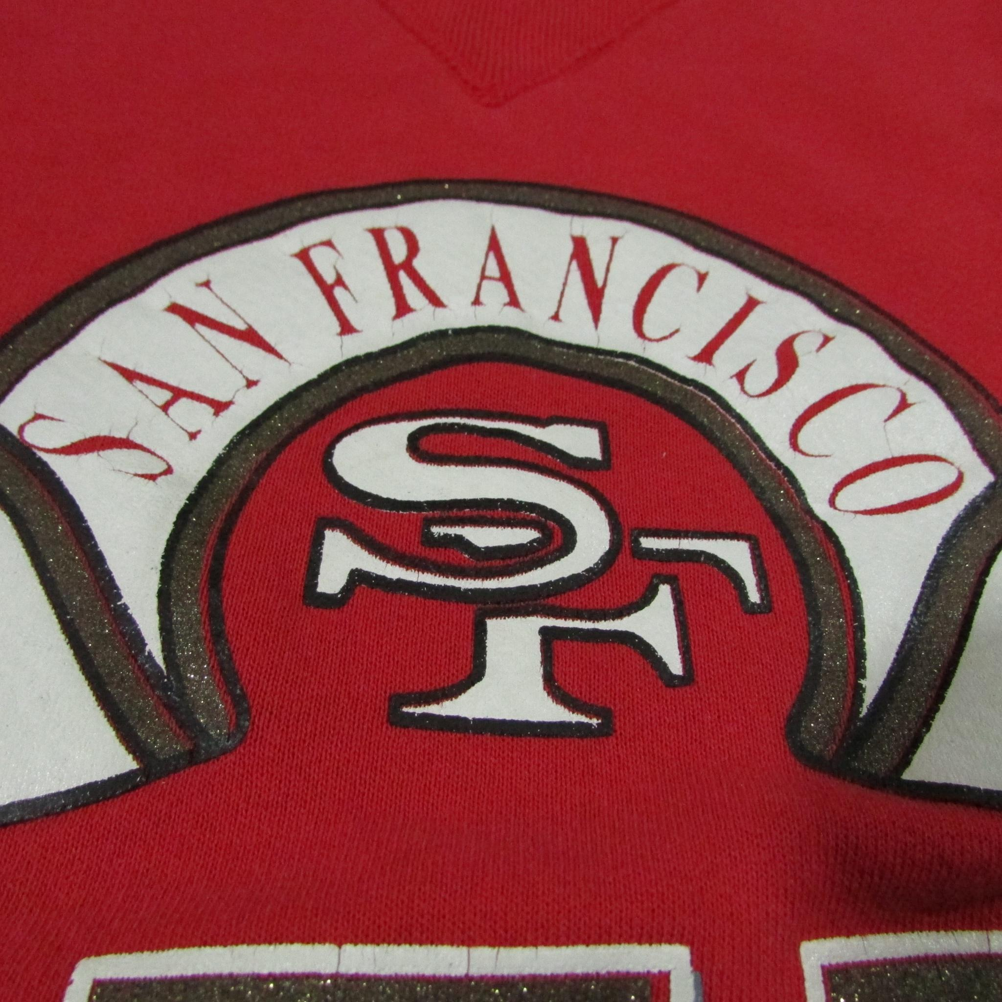 San Francisco 49ers Vintage Football Sweater Russell Athletic XXL