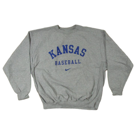 University of Kansas Jayhawks Vintage Nike Baseball Sweater Sz L