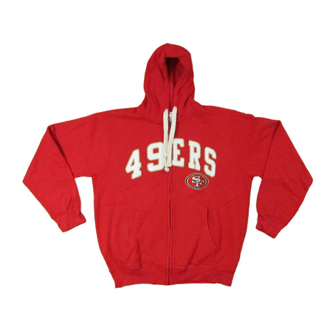 San Francisco 49ers Block Font Football Hoodie Sweater NFL Shop Sz XL