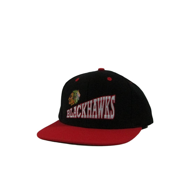 Chicago Blackhawks Side Logo Arch Font Vintage Hockey Snapback Hat