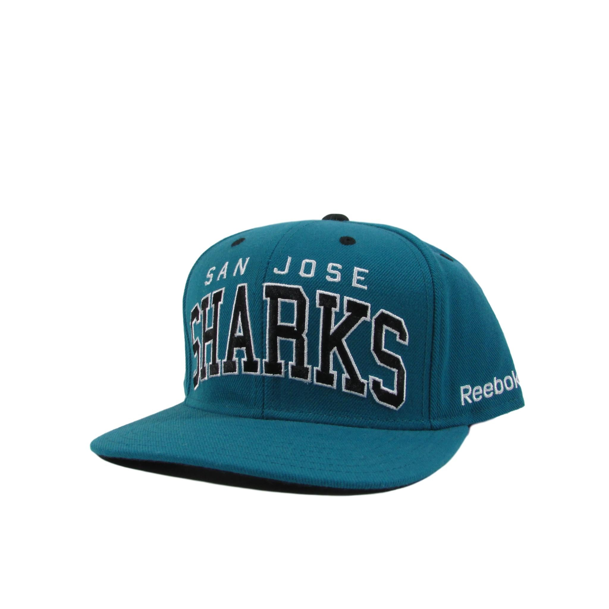 San Jose Sharks Arch Font Snapback Hat Hockey NHL Reebok