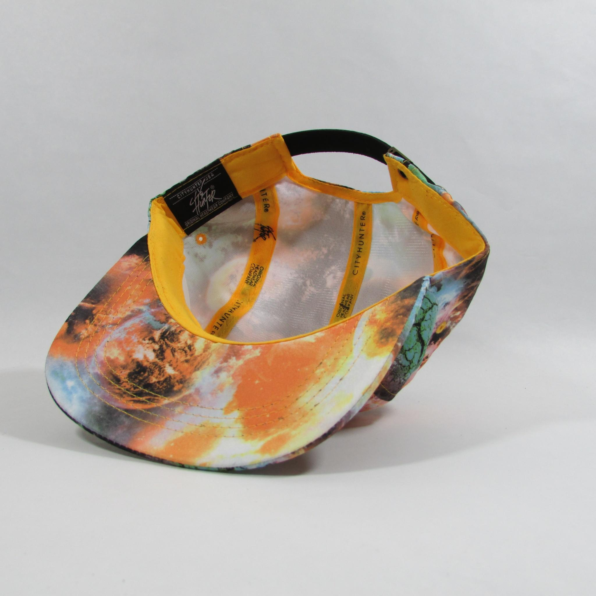 Galaxy Space 5 Panel Leather Strapback Hat City Hunter