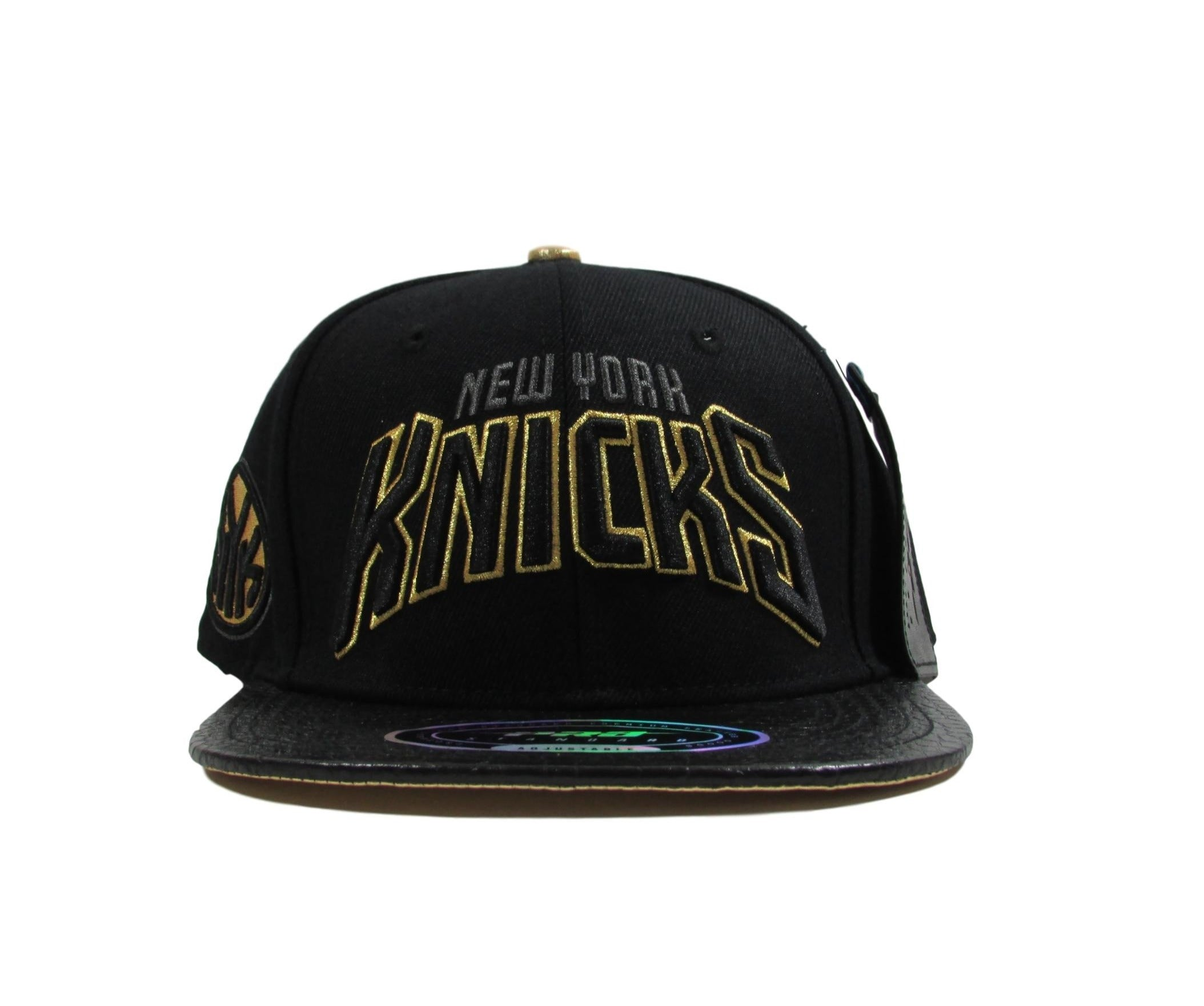New York Knicks Genuine Leather Snapback Hat by PRO STANDARD