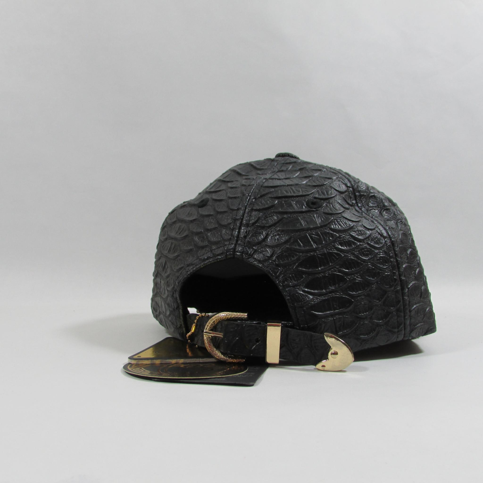 Hater Hardware LDN X Genuine Leather Strapback Hat Gold Chain