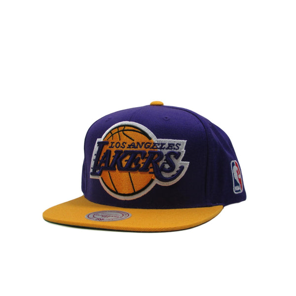 Los Angeles Lakers XL Basketball Logo Snapback Hat Mitchell & Ness
