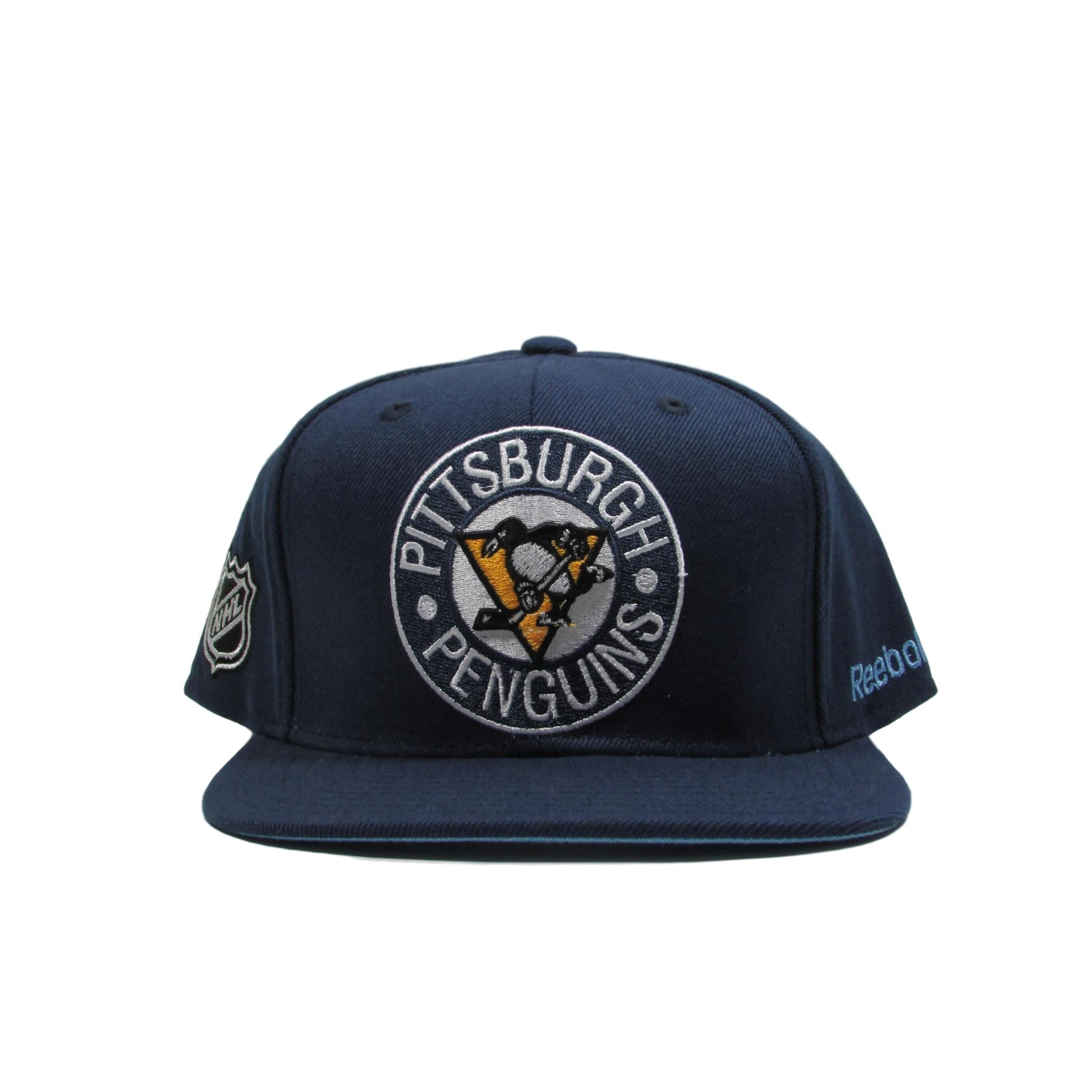 Pittsburgh Penguins 1972 Throwback Logo Hockey  Snapback Hat Reebok