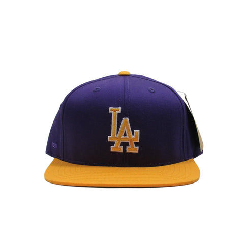 Los Angeles LA Dodgers Lakers Purple Baseball Snapback Hat American Needle