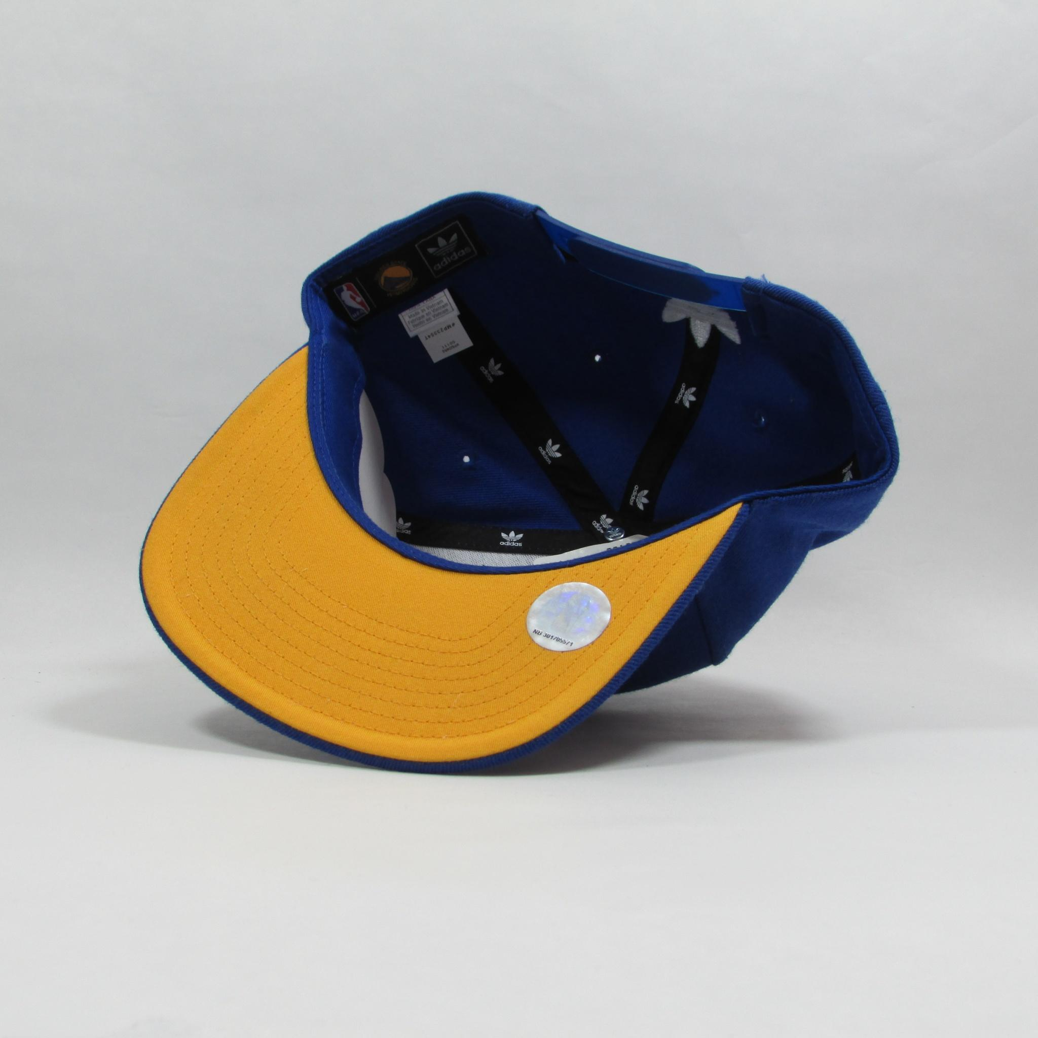 Golden State Warriors XL Logo Basketball Snapback Hat Adidas