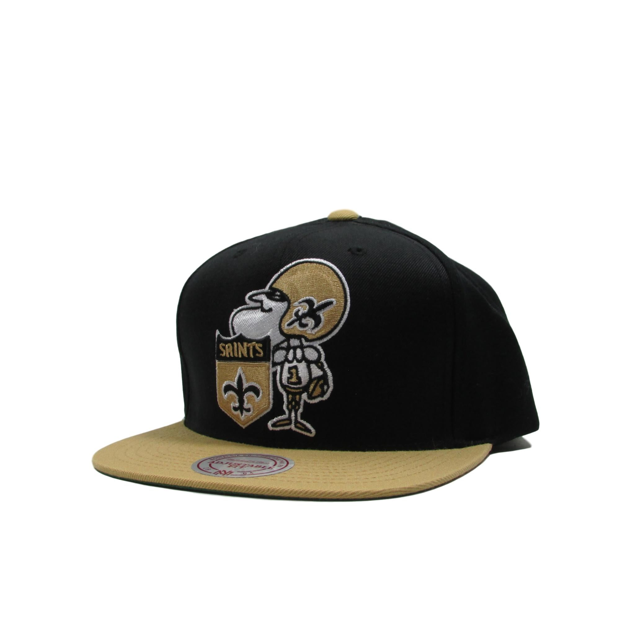 New Orleans Saints Mitchell & Ness 1967 XL Classic Logo Football Snapback Hat