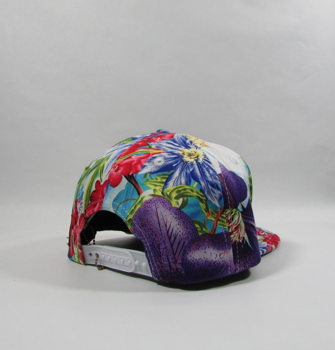 HATER Purple Hawaii Floral Gold Logo Snapback Hat