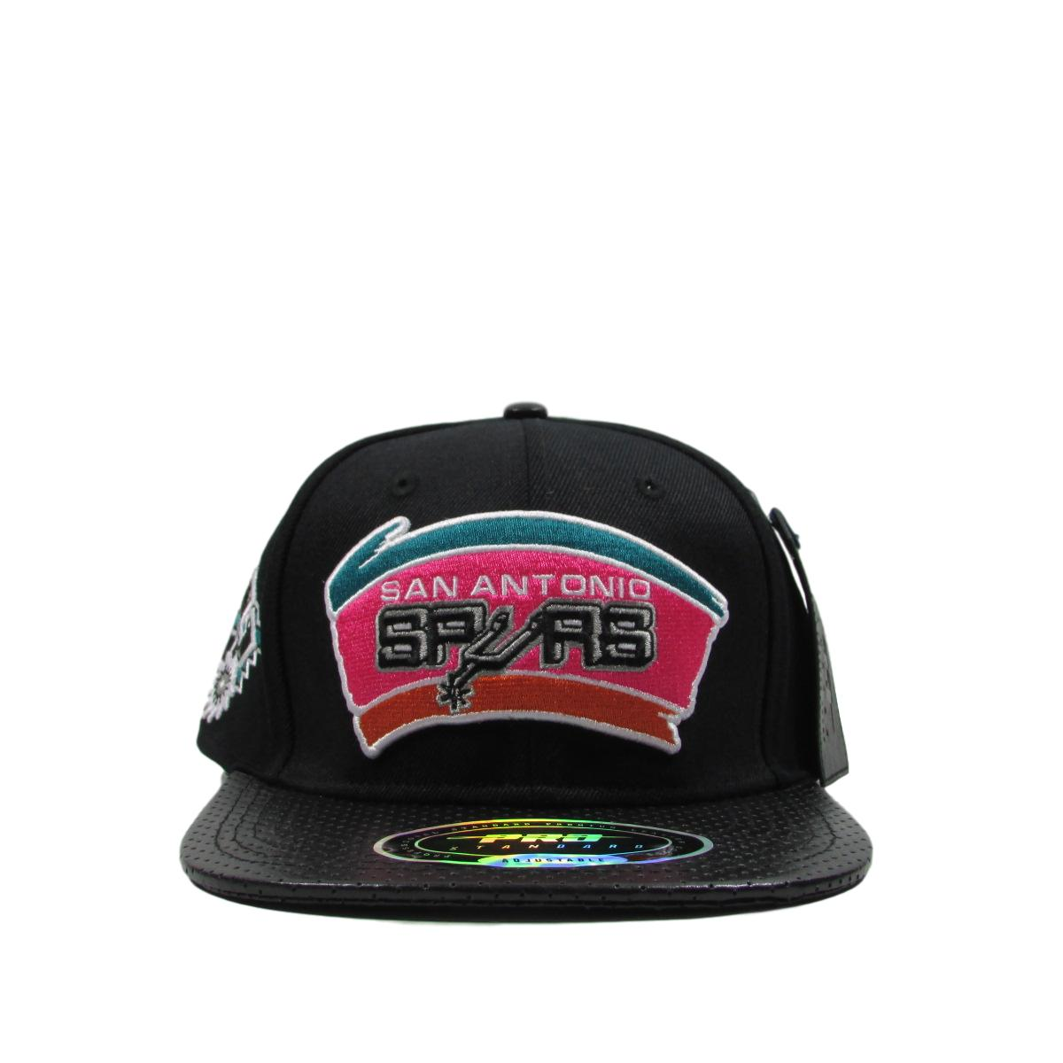 San Antonio Spurs 1989 Logo Leather Basketball Strapback Hat Pro Standard