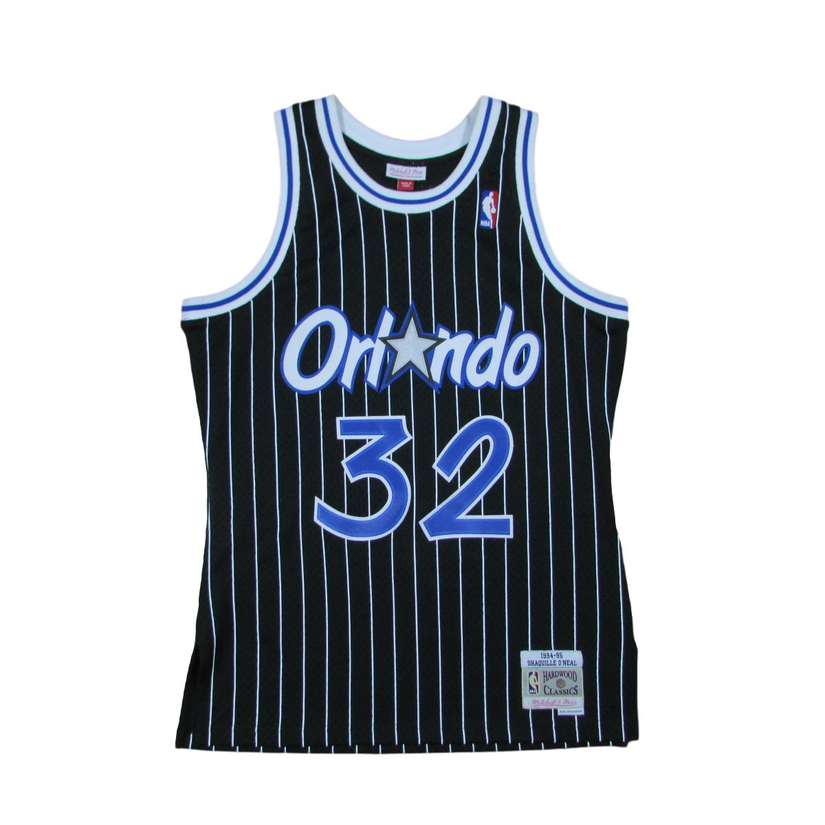 Orlando Magic Shaquille O'Neal Pinstripes 1995 Basketball Jersey Mitchell & Ness Sz 48