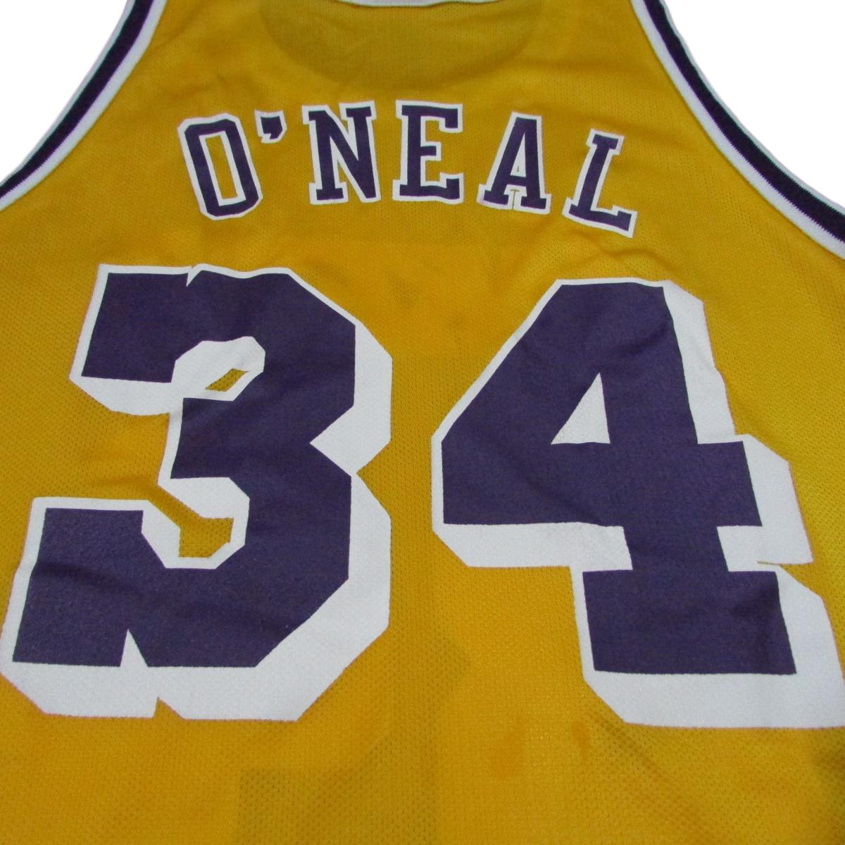 Los Angeles Lakers Shaquille O'Neal 1996 Champion Basketball Jersey Sz 48