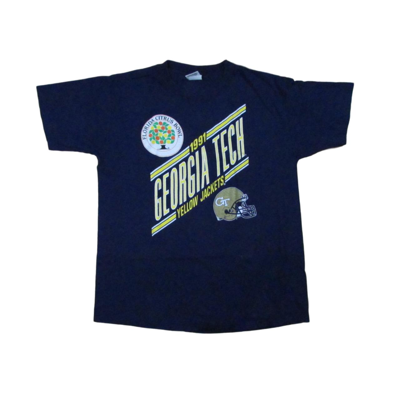 1991 Georgia Tech Yellow Jackets College Football T-Shirt NUTMEG Sz XL