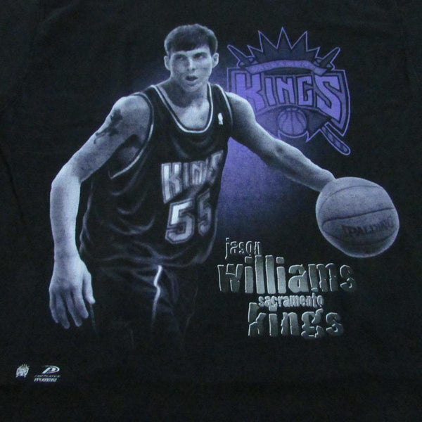 1998 Jason Williams Sacramento Kings Rookie Basketball T-Shirt Pro Player Sz L