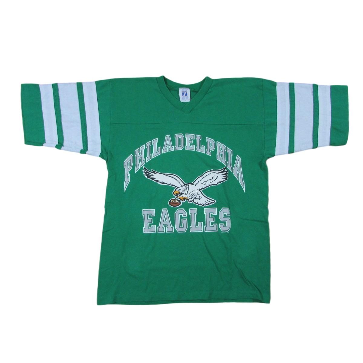 Philadelphia Eagles Football Raglan T-Shirt Logo 7 Sz M