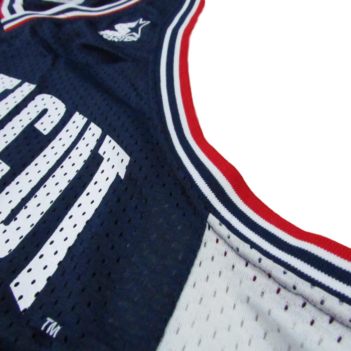 University of Connecticut Uconn Huskies College Basketball Jersey Starter Sz 48
