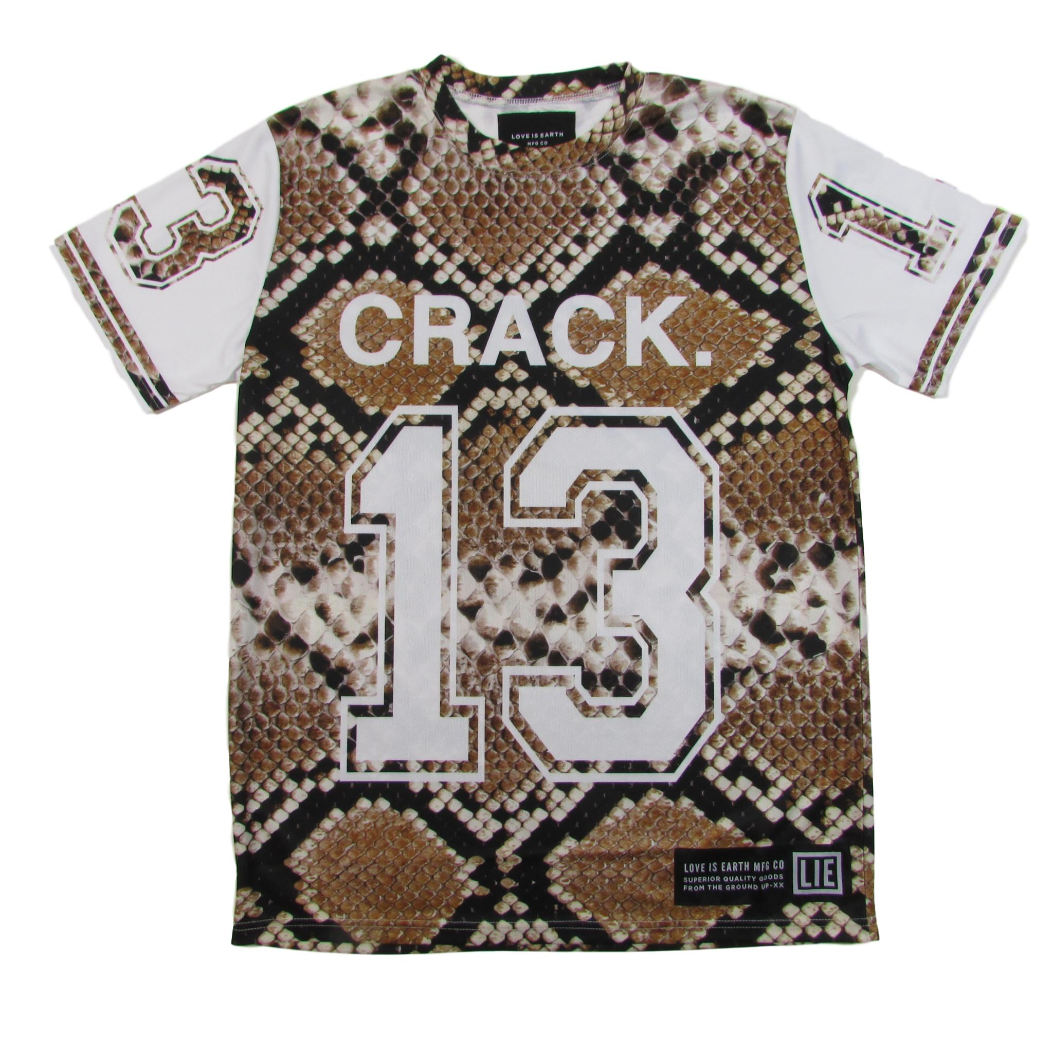 Love is Earth Snakeskin Python Crack Jersey no.13 Sublimation T-Shirt