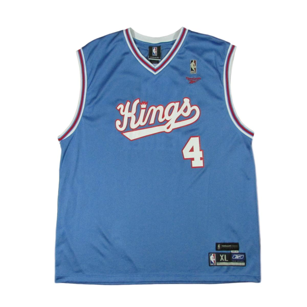 Sacramento Kings Chris Webber 1985 Royals Throwback Jersey Reebok Sz XL