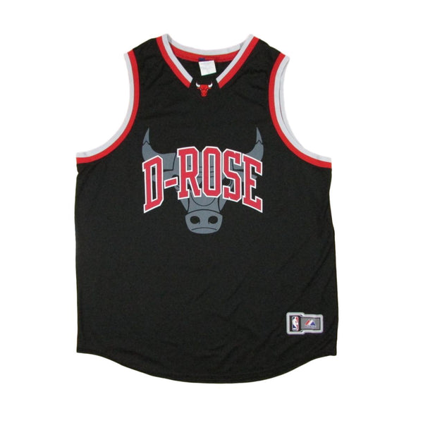 Chicago Bulls Derrick Rose King of Chicago Majestic Basketball Jersey Sz XXL