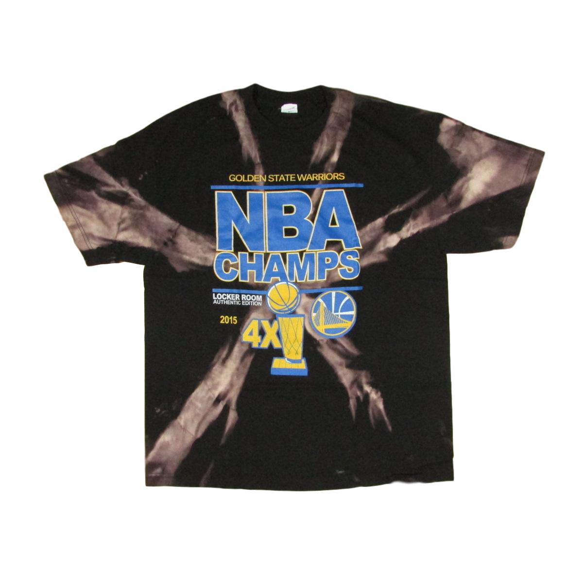 Golden State Warriors X Bleached Tie Dye T-Shirt 4x NBA Champs Sz XL