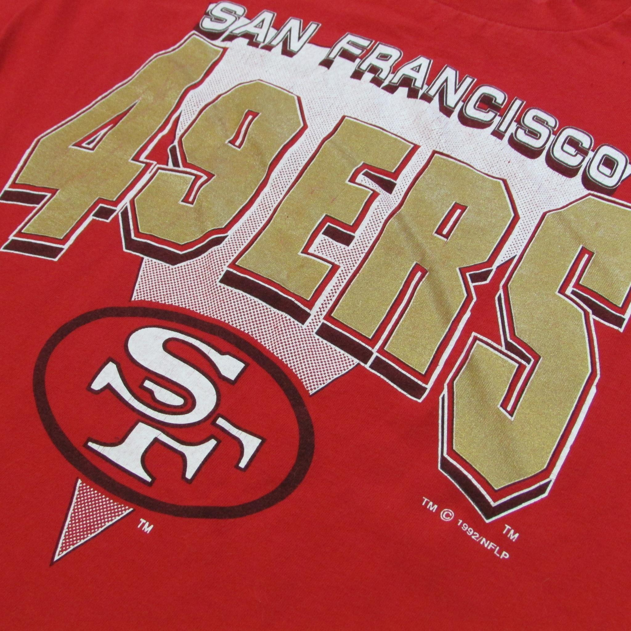 San Francisco 49ers Vintage 1992 Diamond Font T-Shirt LOGO 7 Sz XL