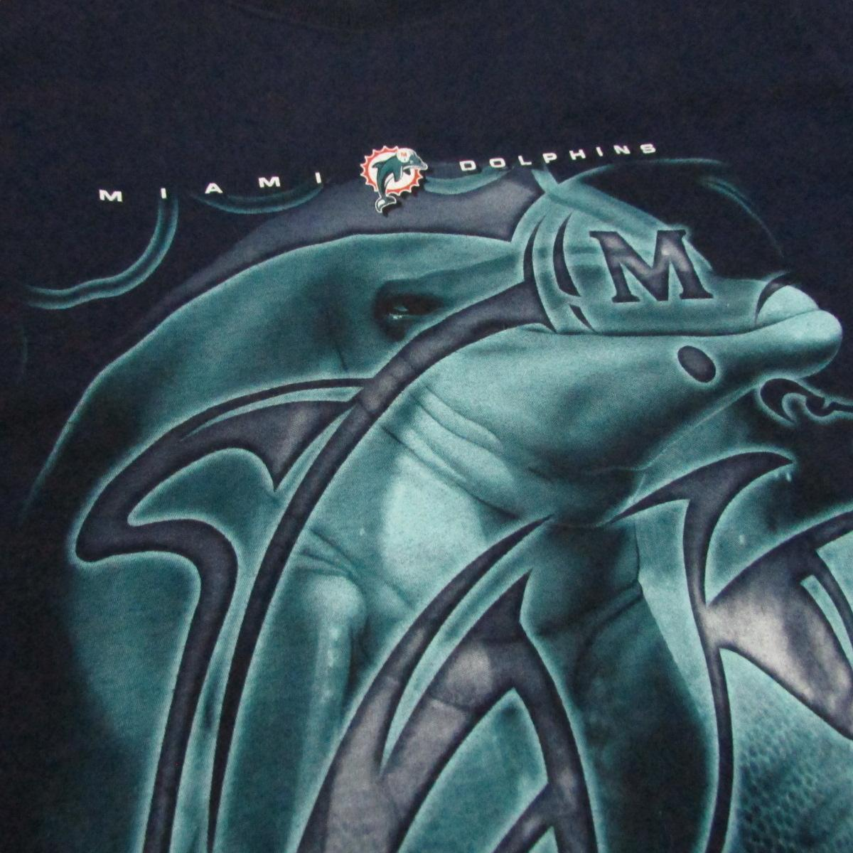 Miami Dolphins Vintage Football T-Shirt Pro Player Sz M
