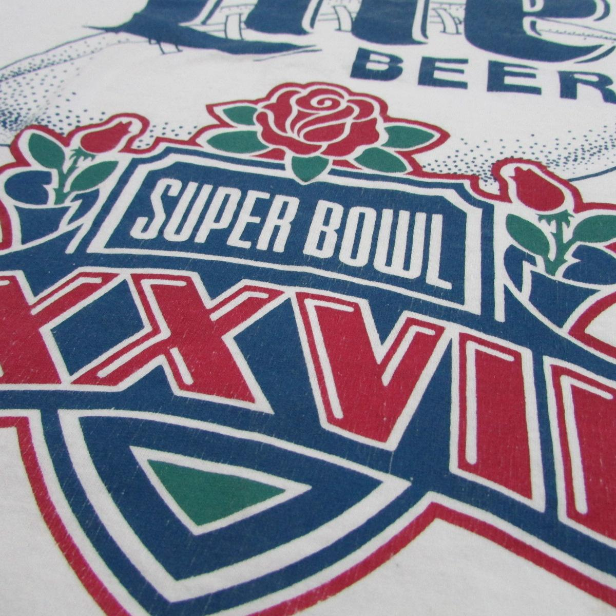 Miller Lite Beer Super Bowl 1993 Rose Bowl T-Shirt Sz XL